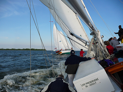 Wednesday Night Race Series on board Schooner Woodwind