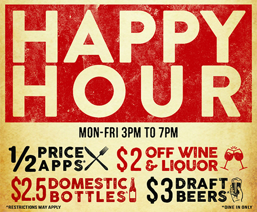 Happy Hour at Rams Head Tavern