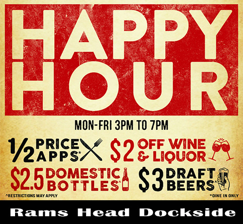 Happy Hour at Rams Head Dockside