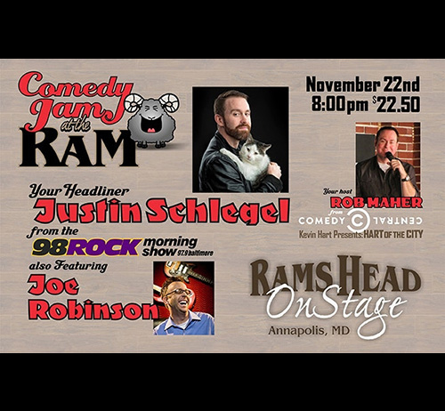 Comedy Jam at the Ram Featuring Justin Schlegel of 98 Rock